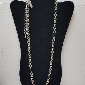 Oscar DeLaRenta silver necklace